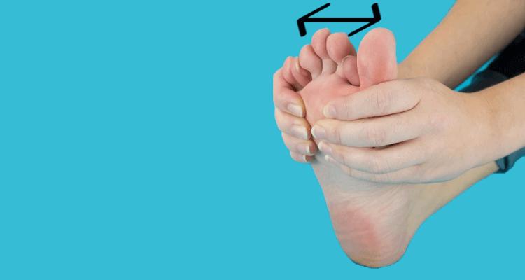 Rozkładanie palców u stóp