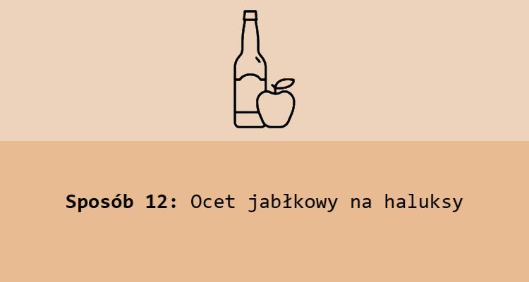 Sposób 12: Ocet jabłkowy na haluksy